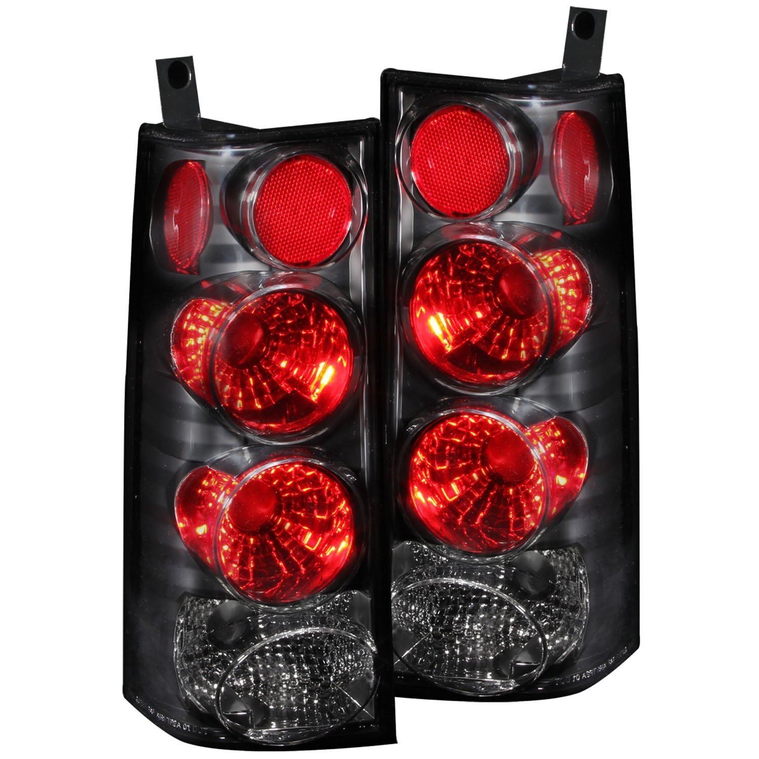 Amazon com 2003 2008 gmc savana chevy express van tail lights blk rear brake lamps drl fog automotive