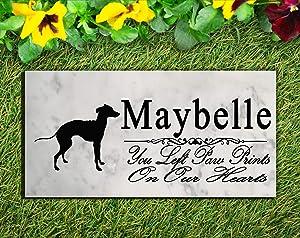 Broad Bay Italian Greyhound Dog Memorial Stone Personalized Italian Greyhound Sign Garden Marker Outdoor Grave Headstone Plaque
