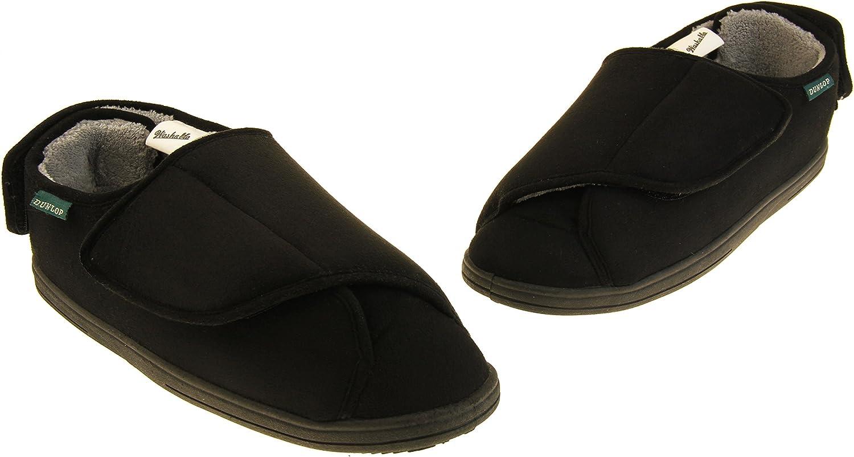Hommes Dunlop Fourrure Velcro doubl/é Chaussons