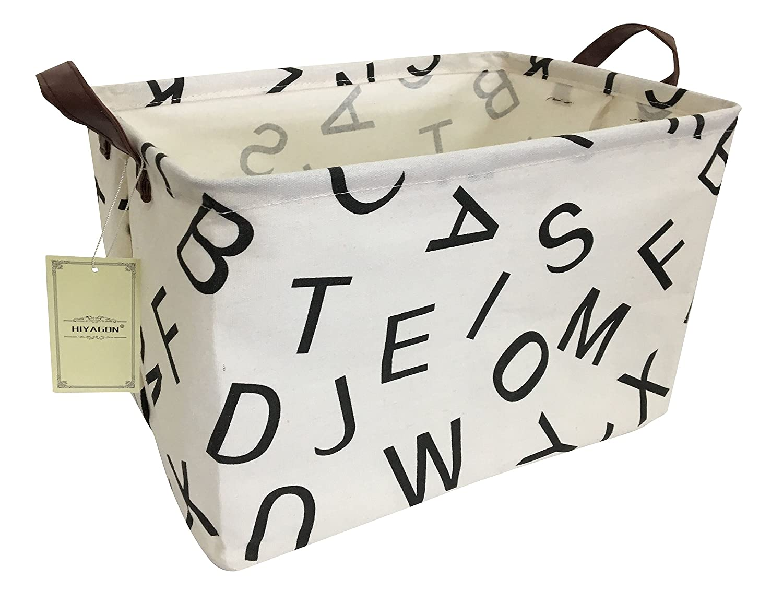 HIYAGON Rectangular Storage Box Basket Baby, Kids Pets - Fabric Collapsible Storage Bin Organizing Toys,Nursery Basket,Clothing,Books, Gift Baskets(Cross)