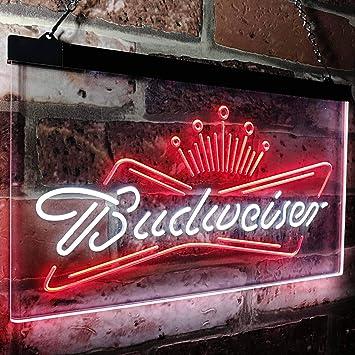 Amazon.com: zusme Budweiser King Beer Bar - Cartel de neón ...