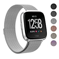 Deals on SWEES for Fitbit Versa Bands for Women Men Small & Large