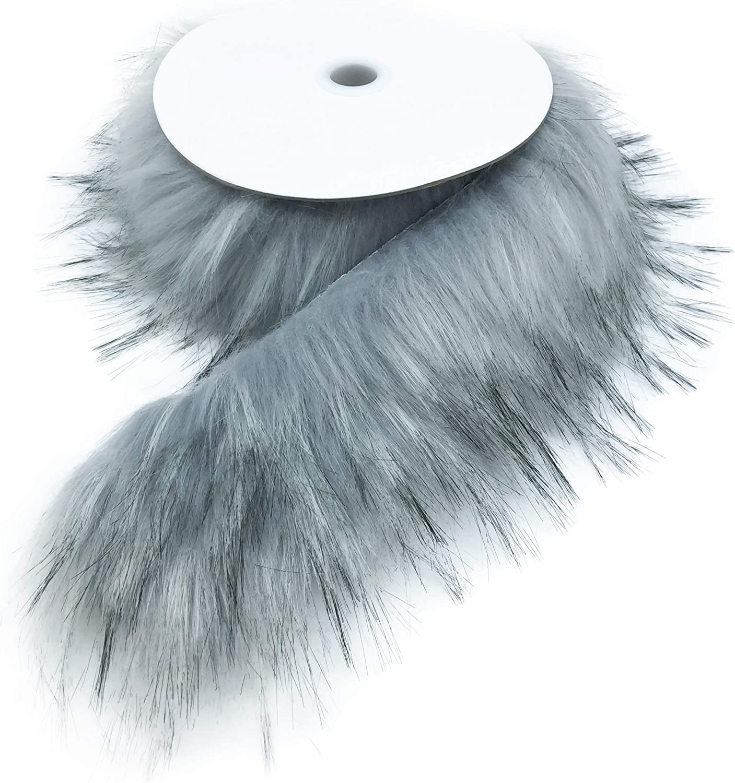8cm x 4cm No Clip At Back Fur Long Trim Flat Back Short Fur Trim Raccoon Fur stripe 2pcs Furry stripe Fur Stripe Raccoon Fur Stripe