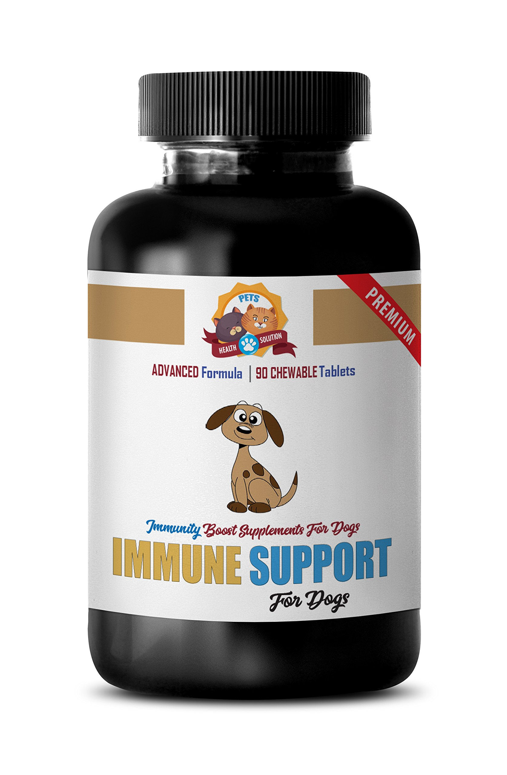 immune system booster for dogs - IMMUNE SUPPORT AND HEALTH - FOR DOGS TREATS - PREMIUM ADNVACED FORMULA - turkey tail for dogs - 90 Treats (1 Bottle)