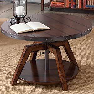 Liberty Furniture Industries Aspen Skies Motion Cocktail Table, 34