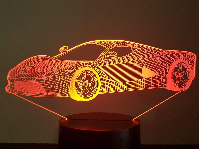 Lampe 3D Motif: Ferrari