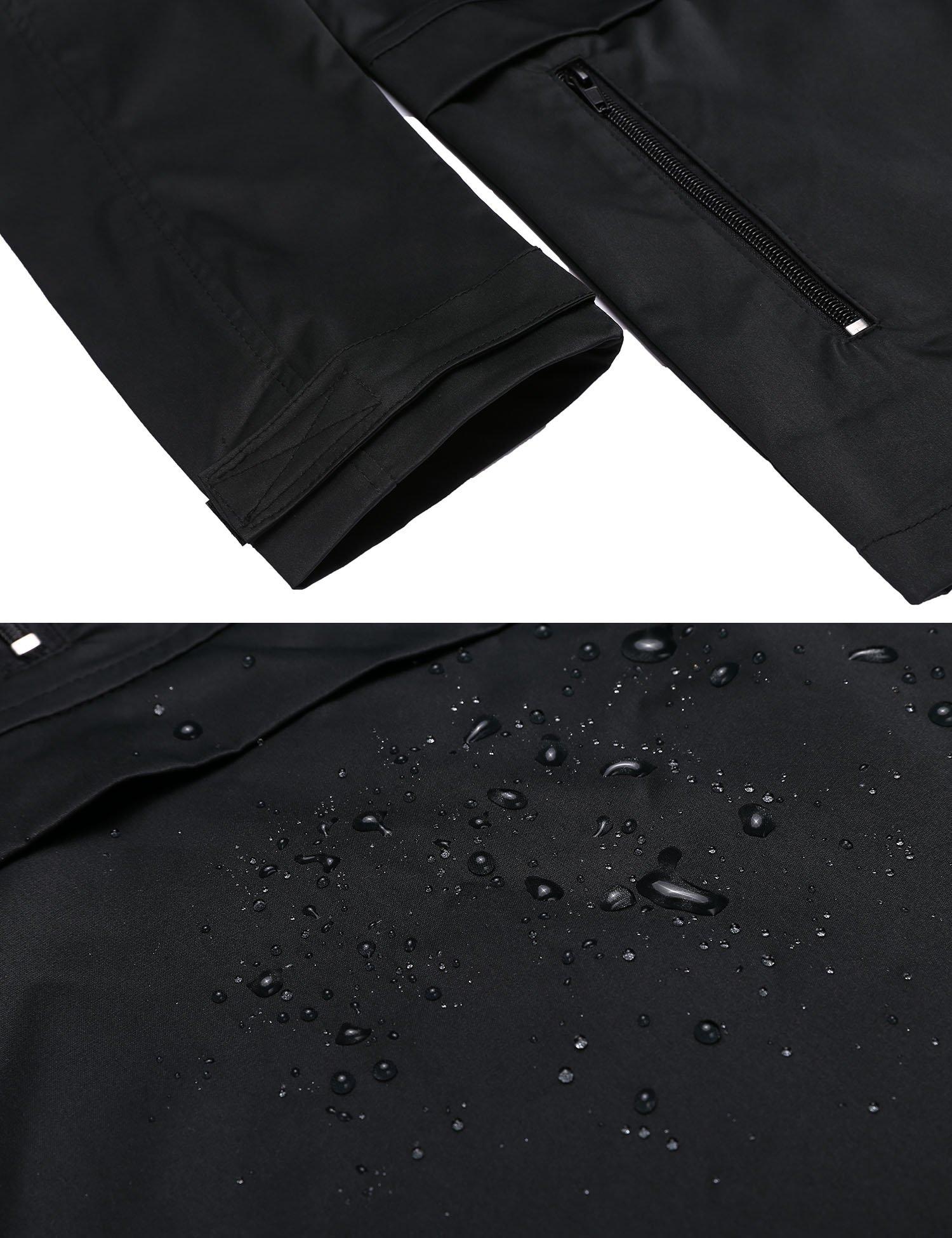 SummerRio Women's Waterproof Venture Resolve Softshell Rainwear Jacket (Black,Medium) by SummerRio (Image #5)