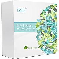 EZGO 100pcs Deep Cleaning Teeth Wipes Finger Brush Teeth Wipes Oral Brush Ups Mint...