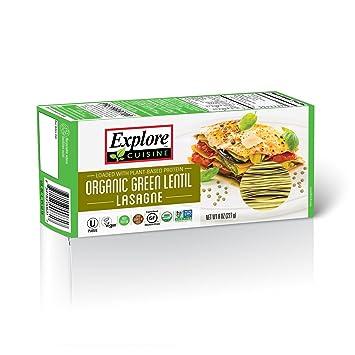 Amazoncom Explore Cuisine Organic Green Lentil Lasagne 250g