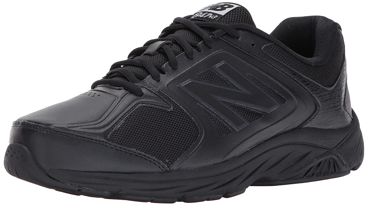 New Balance Men's 847V3 Walking Shoe 10 B US|Black/Black