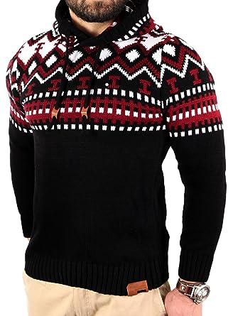 buy online 9aad2 cd7cb Reslad Norweger Pullover Herren Winterpullover Kapuzenpullover |  Strickpullover für Männer RS-3013