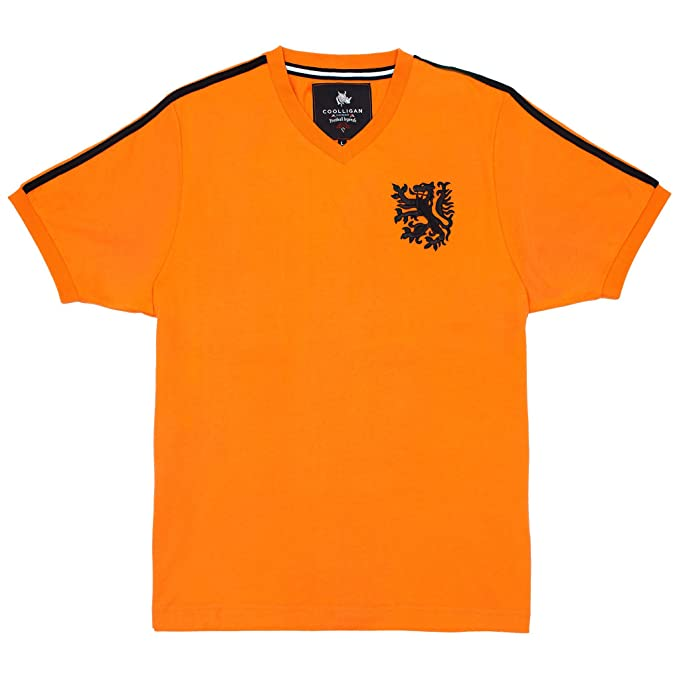 Coolligan - Camiseta de Fútbol Retro 1974 Cruyff - Color - Naranja - Talla - 3XL