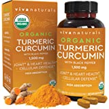 Organic Turmeric Curcumin Supplement 1,500mg (90 Tablets) | with Black Pepper for Superior Absorption, High Potency Standardi