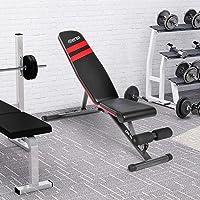 Merax. Klappbare Hantelbank Bauchtraining Premium Beinhalterung hochwertiges Dickes Polster einfacher Aufbau belastbar bis 250 kg