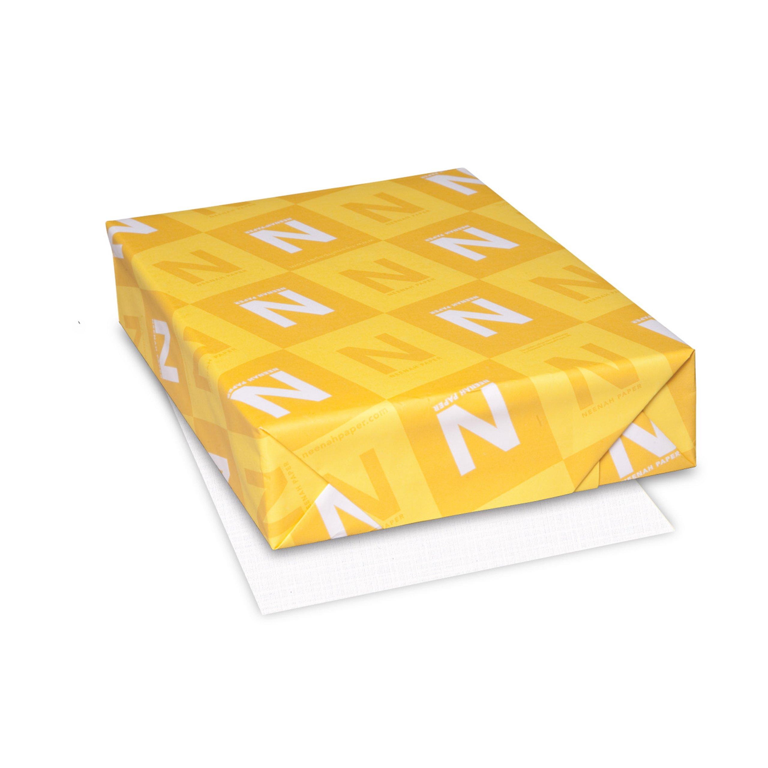 Neenah Royal Sundance Linen Writing Paper, 8.5'' x 11'', 24 lb/ 89 gsm, Brilliant White 98 Brightness, 500 Sheets (75101)