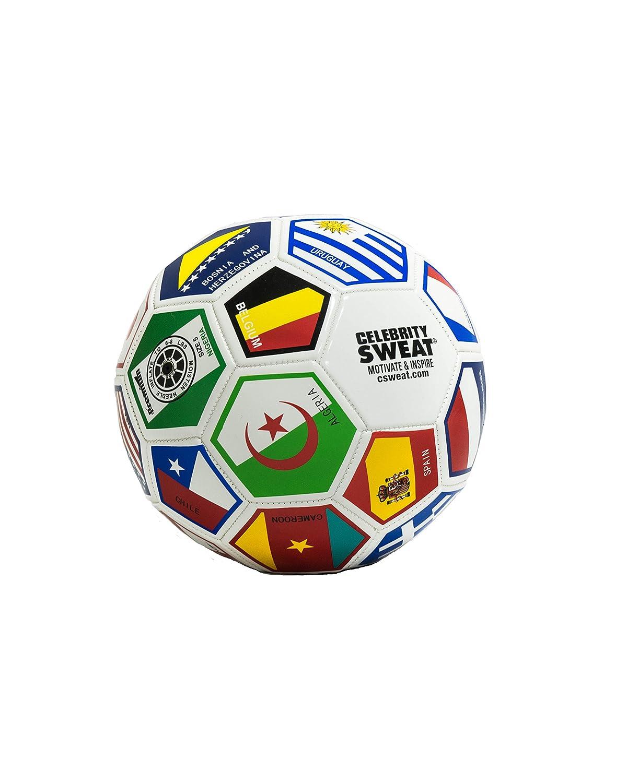 Celebrity Sweat World - Pelota de Fútbol (Tamaño regulador ...