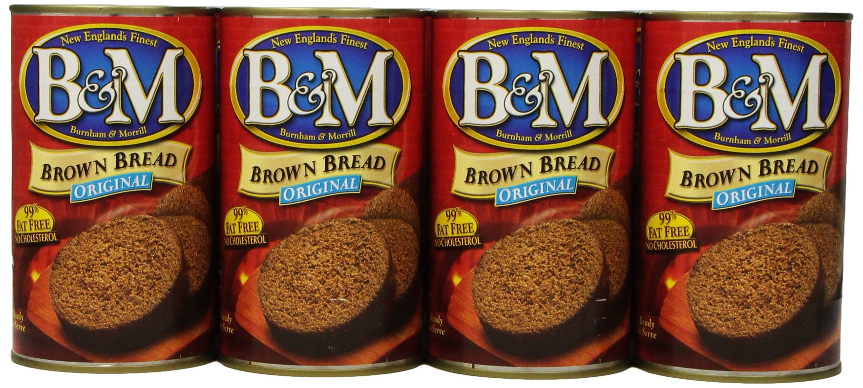 B & M Brown Bread, Original, 16 Ounce (Pack of 12)