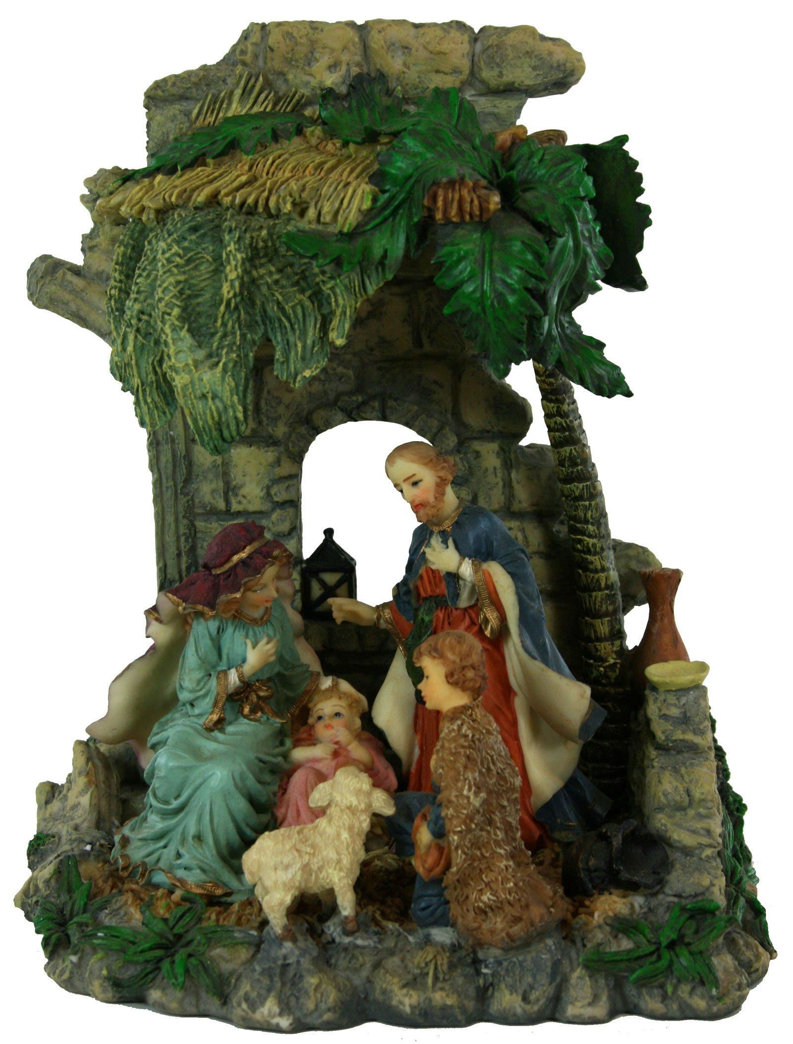 8 Inch Holy Family One Piece Nativity [3481]