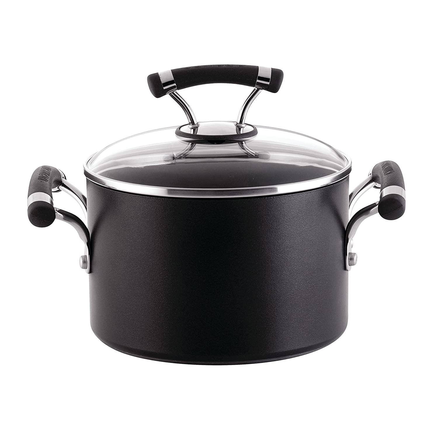Circulon Contempo 3-Quart Covered Saucepot, Gray