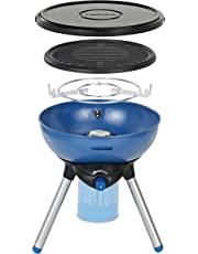 Campingaz Party Grill 200 Camping Stove, All in One portable Camping BBQ, Outdoor Grill & Stove, Small Gas Barbecue 2.000 Watt, Tabletop BBQ
