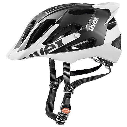 Uvex Quattro Pro - Casco de ciclismo unisex, color negro/blanco, talla 56