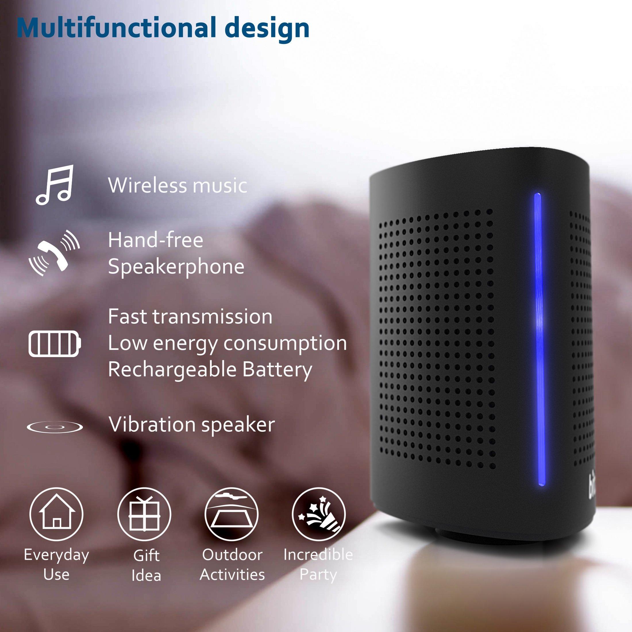 Bluetooth Computer Speaker – Wireless Bluetooth Speaker – Bluetooth Speaker for Women Men – Audio Bluetooth Speaker for iPhone Android Laptop – True Wireless Speakers – Portable Bluetooth Speakers by Bitzen (Image #3)