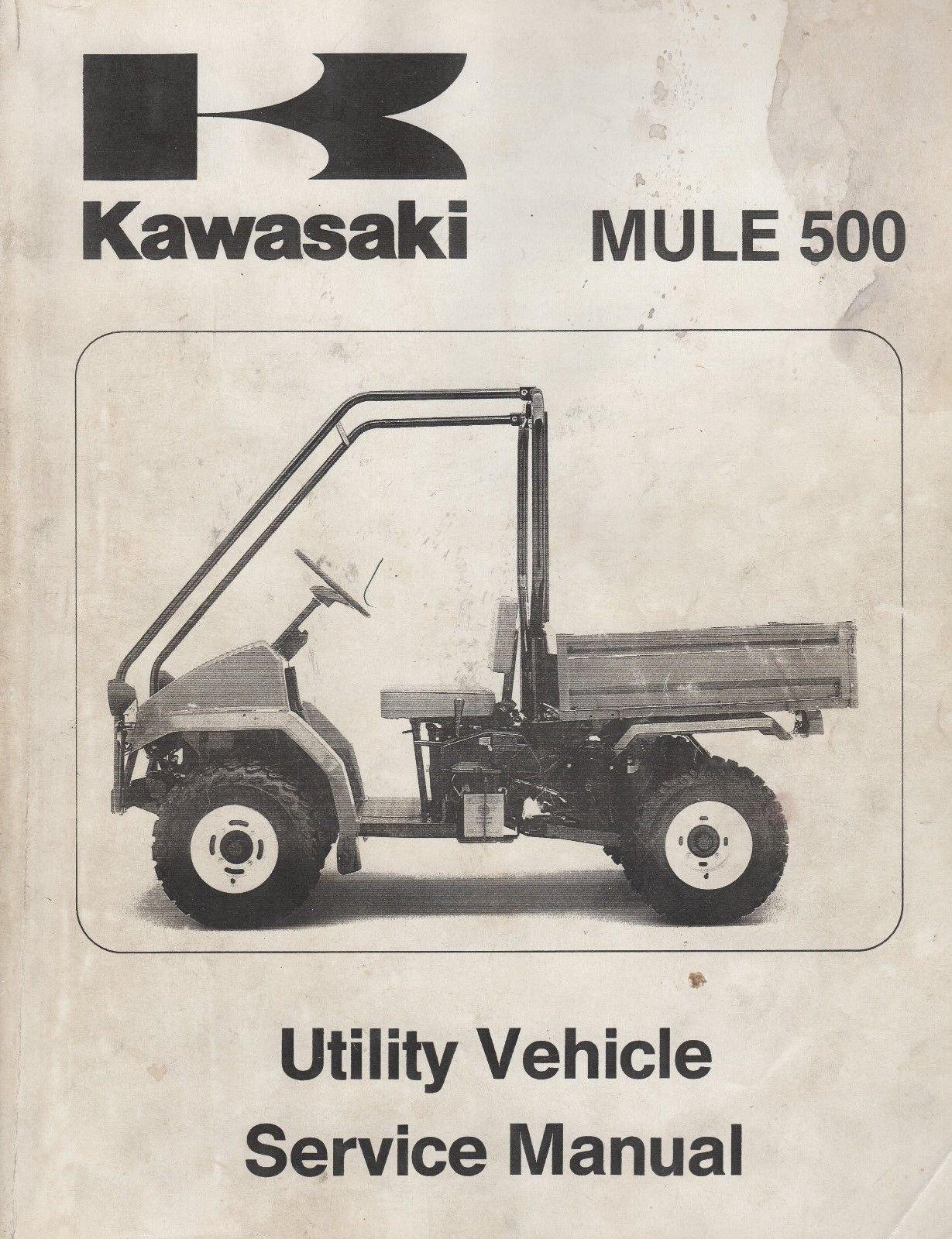 1991-1998 KAWASAKI UTILITY ATV MULE 500 SERVICE MANUAL P/N 99924-1146-02  (876): KAWASAKI: Amazon.com: Books