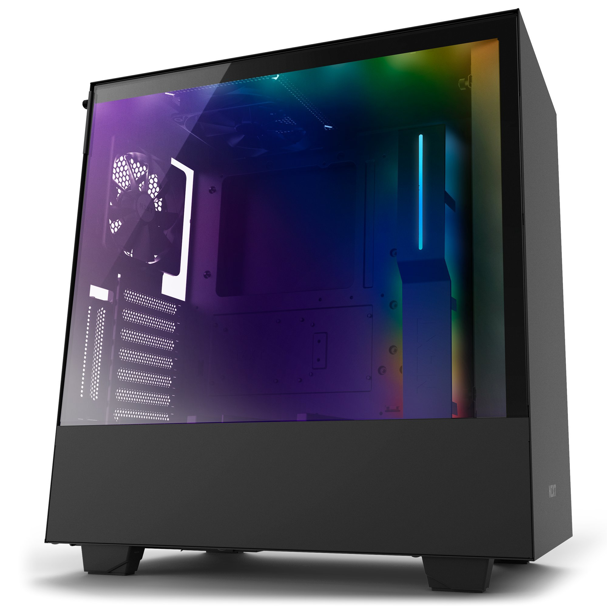 NZXT H500i ATX Computer Case, with Digital Fan Control and RGB Lighting, Black (CA-H500W-B1)