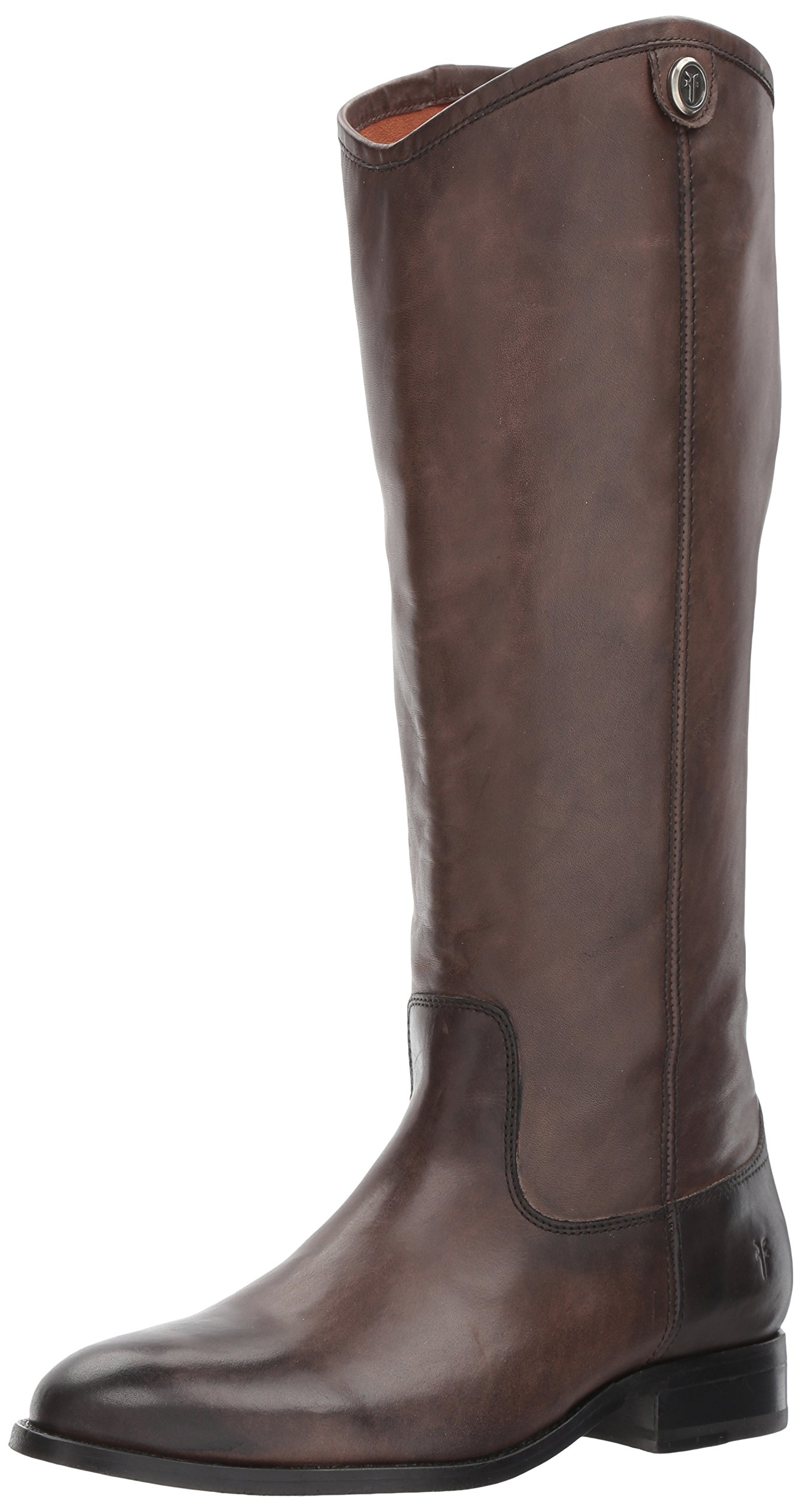 FRYE Women's Melissa Button 2 Riding Boot, Smoke, 7 M US