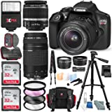 Canon EOS Rebel T6 DSLR Camera Deluxe Bundle with Canon EF-S 18-55mm f/3.5-5.6 IS II Lens +2X 32GB + 70-300mm Lens + High-Value Accessory Kit