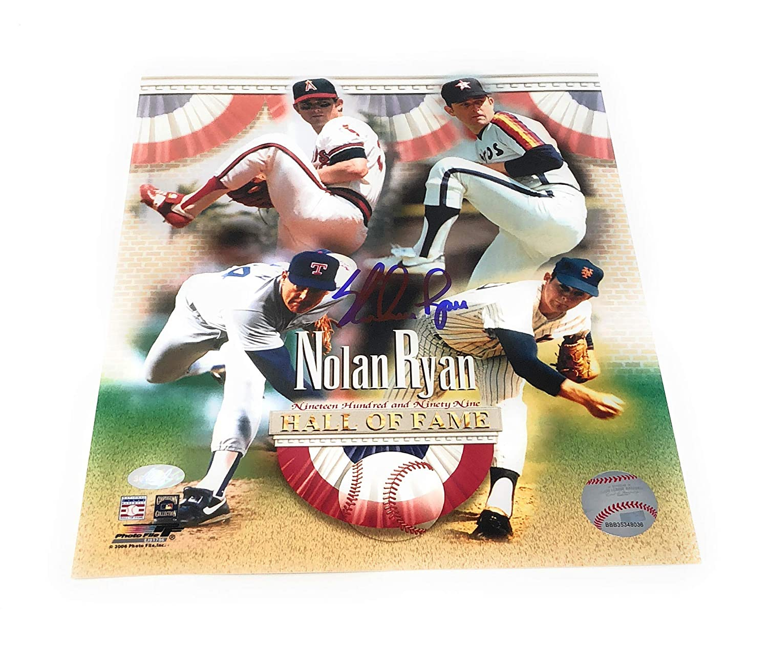 35ece4fc0 Nolan Ryan Astros Angels Mets Rangers Signed Autograph 8x10 Photo  Photograph N Ryan Player Hologram Certified at Amazon s Sports Collectibles  Store