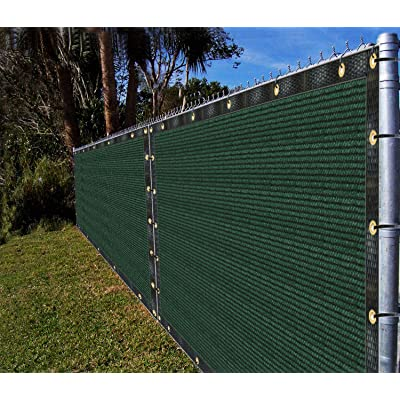 Ifenceview 4'x15' Green Fence Privacy Screen Fence Cover Shade Cloth Mesh Net Awning Canopy for Construction Site Yard Driveway Garden Pergolas Gazebos 165 GSM UV Protection : Garden & Outdoor