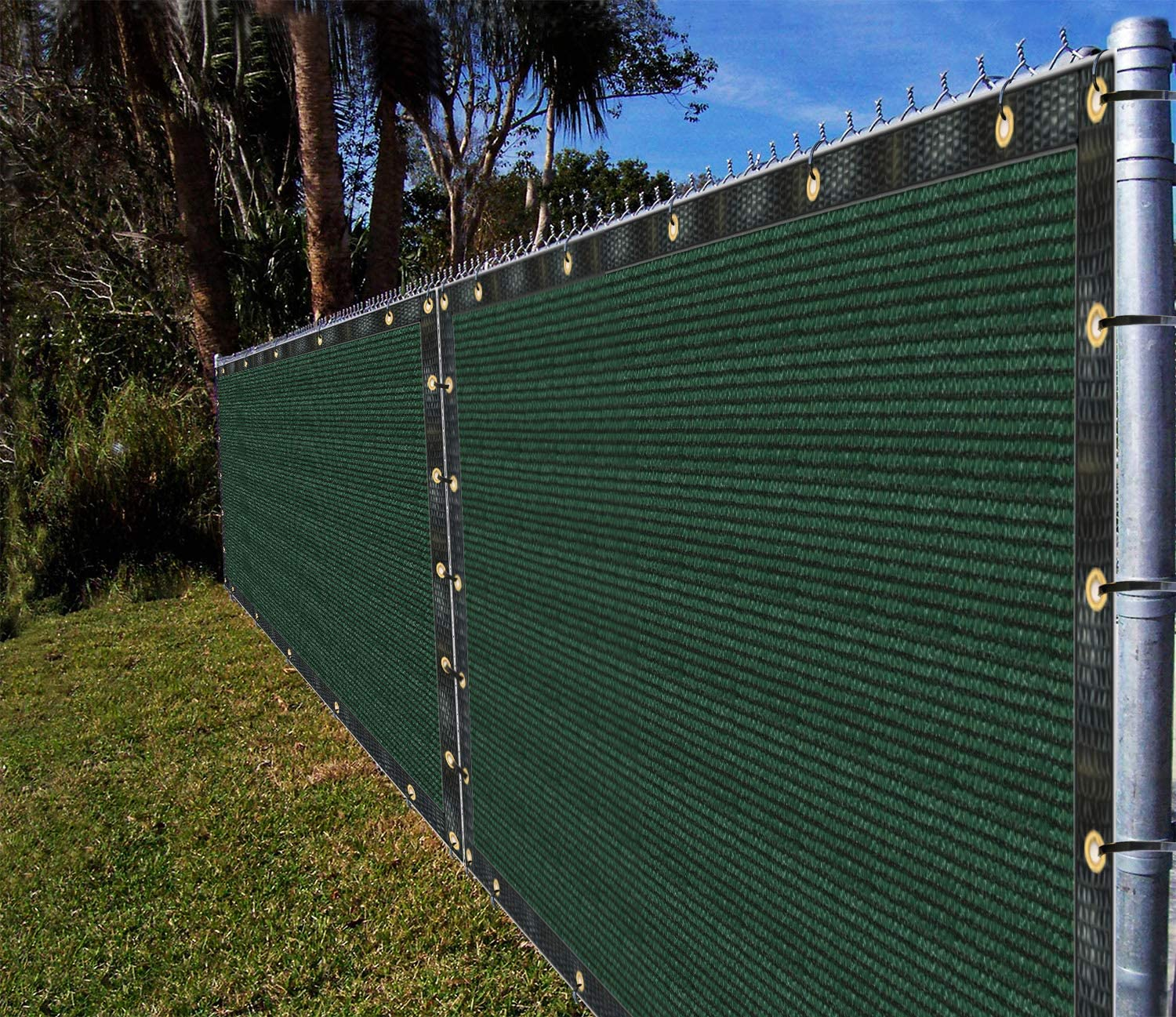 Ifenceview 4'x5' to 4'x50' Green Shade Cloth Fabric Fence Privacy Screen Panels Mesh Net for Construction Site Yard Driveway Garden Pergola Gazebos Railing Canopy Awning 180 GSM UV Protection (4'x6')