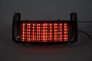Sequesntial Motorcycle Taillight Clear Lens Motorrad Led Rücklichter Rücklicht Mit Integrierten Blinker Lampe Indikatoren Für Honda 1991 1996 Cbr600 F2 F3 Auto