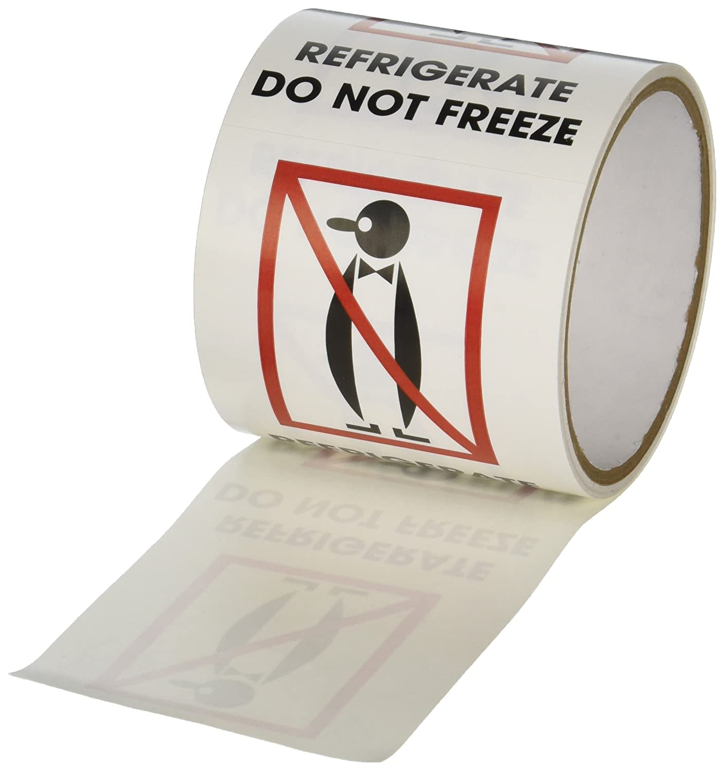 TapeCase SHIPLBL-081-50 Refrigerate, Do Not Freeze Label - 50 per pack