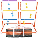 Harvil Premium Ladder Toss Game Set. Includes Soft Bolos, 2 Targets Carrying Case