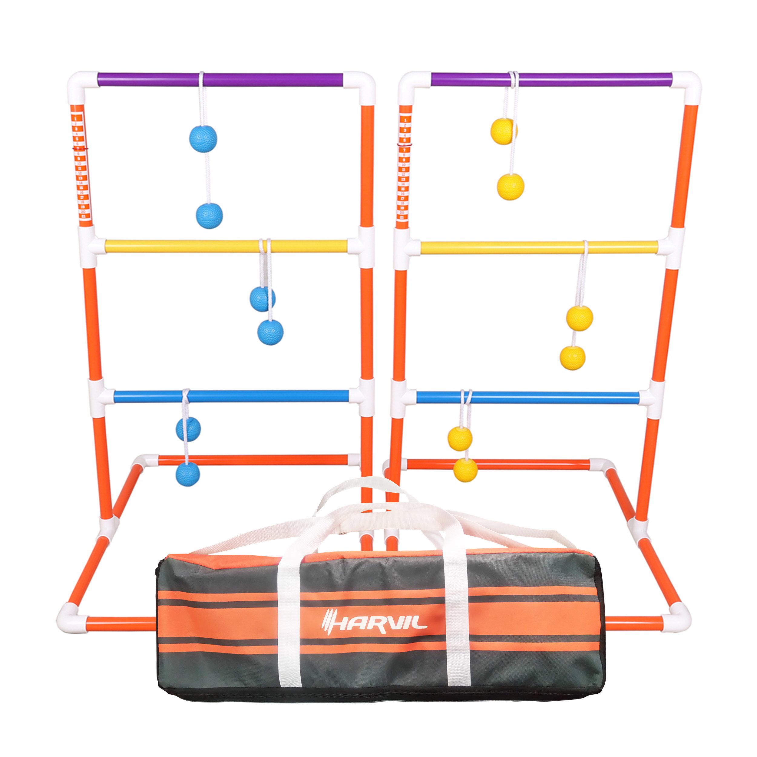 Harvil Premium Ladder Toss Game Set. Includes Golf Bolas, 2 Targets, and Carrying Case by Harvil