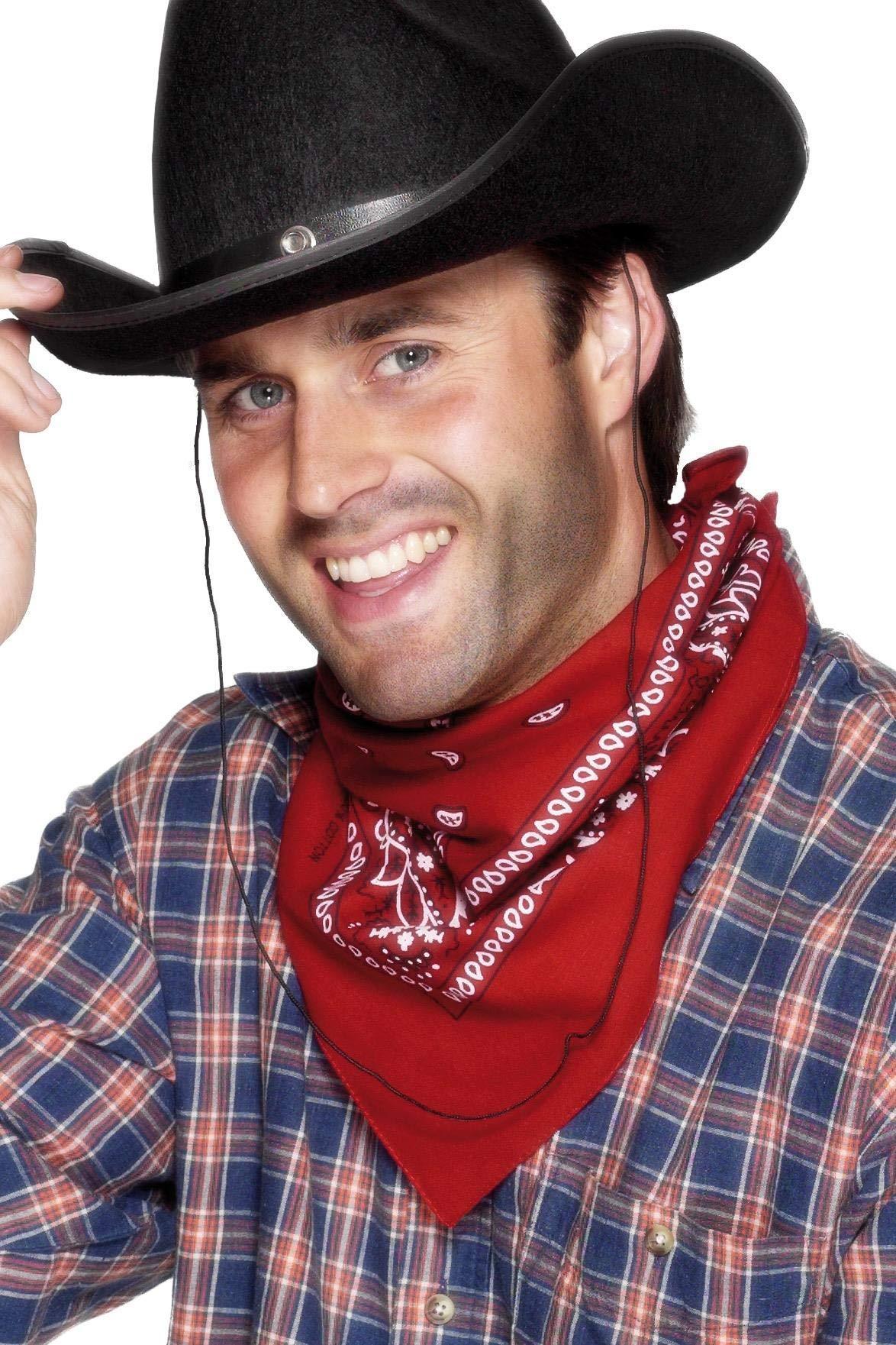 Smiffy's Cowboy Bandanna Western Design - Red