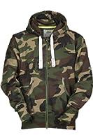 Herren Sweatjacke Zip Hoodie Kapuzenjacke Militär Tarnmuster Camouflage