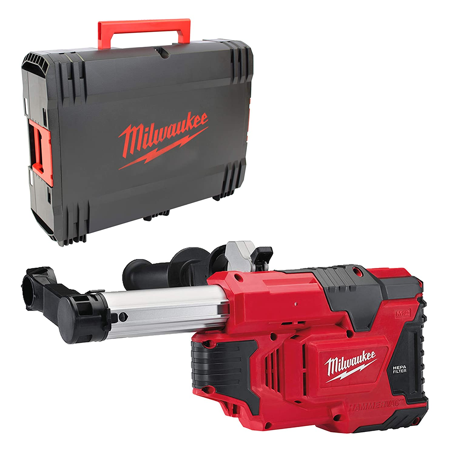 Milwaukee M12 DE/0 + HD Box Akku-Absaugsystem