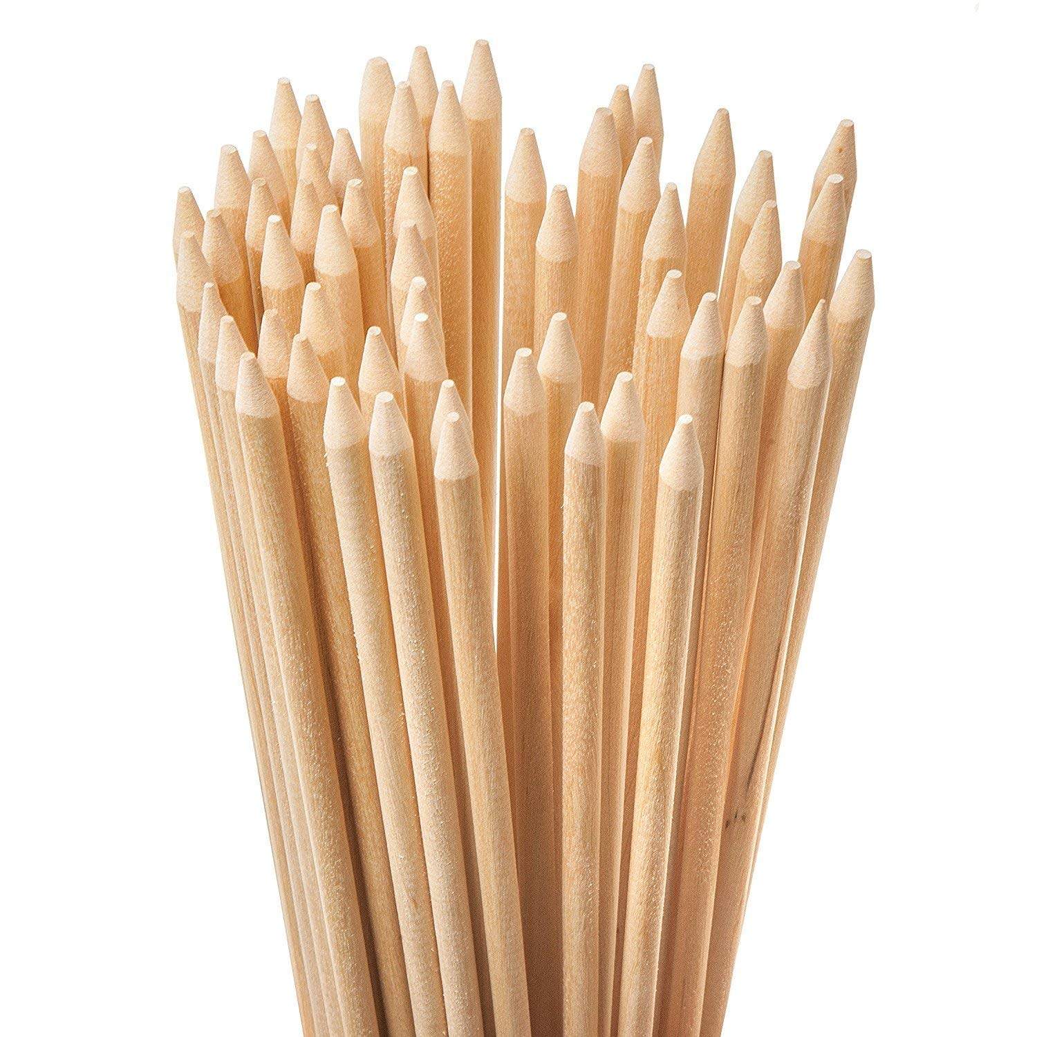 Bamboo Natural Marshmallow Roasting Sticks. Ideally Skewers for Fire Pit.