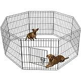pet exercise pen tube gate w door 8 panel playpen heavy duty