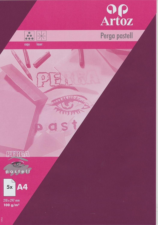 Artoz Papier AG - Perga pastell Transparent Papier A4 5er-Pack bordeaux