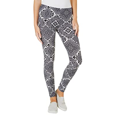 1ST KISS Juniors Geo Diamond Print Leggings One Size Black/White
