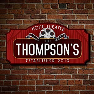 HomeWetBar Red Carpet Personalized Movie Theater Marquee Sign (Custom Product)