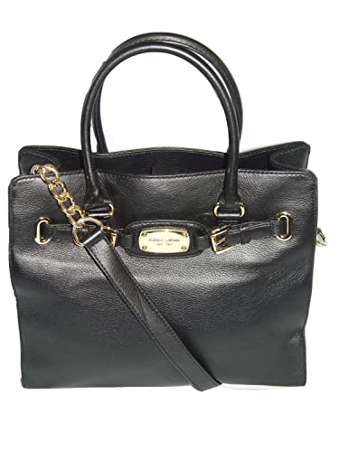 52a451de6b73 Michael Kors Hamilton Large Ns Tote Bag in Black Leather  Handbags ...