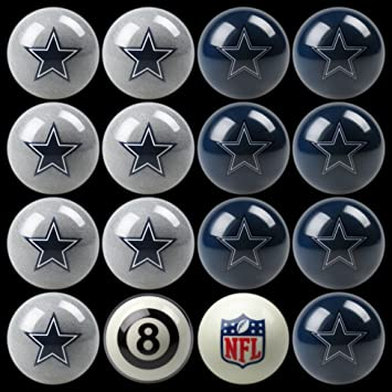 Merveilleux NFL Dallas Cowboys Billiards Ball Set