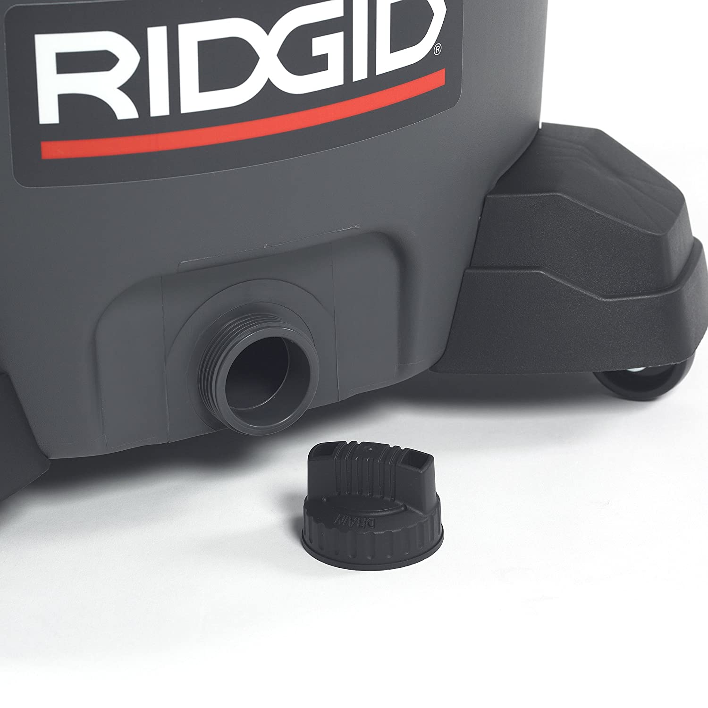 16-Gallon Shop Vacuum with Detachable Blower Pro Hose RIDGID 50343 1620RV Wet Dry Vacuum Casters Drain 6.5 Peak HP Motor Noise Reduction