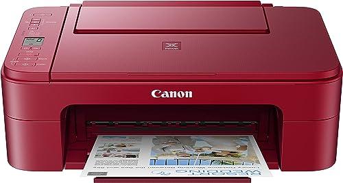 Canon Pixma TS3320 Red, Amazon Dash Replenishment Ready