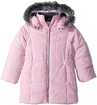 12bc883781d3 Amazon.com  Calvin Klein Little Girls  Long Puffer Jacket  Clothing